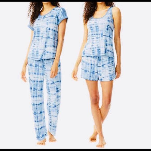 Lucky Brand Intimates Sleepwear Lucky Brand Tee Tank Short Pant Pajama Set M Poshmark